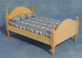 SAD-BEF069 Eenpersoons Bed Blankhout
