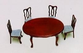 SAD-24/F003 Ovale tafel met 4 stoelen