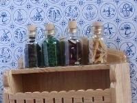 WH-KA16 Set van 4 glazen kruidenpotjes