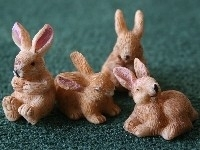 WH-GA284 4 spelende konijnen