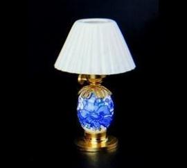 VM-FA11020 Tafellamp blauw/wit porcelein