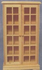 SAD-BEF126 Vitrinekast blank hout