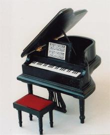"SAD-DF277 Zwarte ""Grand Piano"" met krukje"