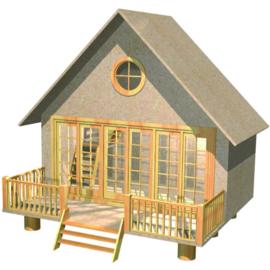 DHE 1800 - The Retreat - vakantiehuis - bouwpakket in schaal 1:12