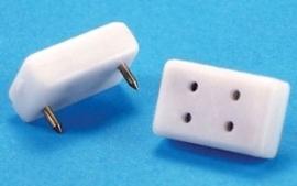 MH44005 (HWH2205) Dubbel stopcontact voor kleine stekkers