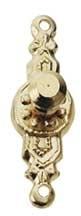HW1105 Ronde deurknop -provinciaal- ((2 stuks)