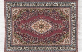 SAD-D698F Turks tapijt rood 10 x 14cm