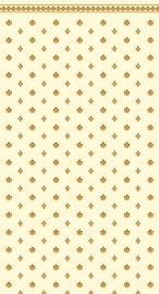 SAD-DIY076A Behang     (Garden Crest Gold & Ivory)