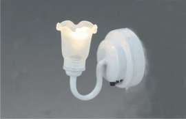 CR-2287 LED Wandlamp met witte tulp kap