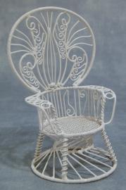 SAD-DF514 Pauw armleuningstoel (wit draad)