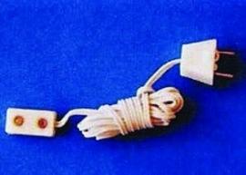 SAD-DE071 Verlengsnoer met enkel stopcontact en stekker (per 4 stuks)