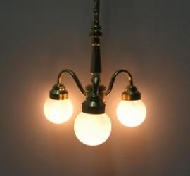 VM-FA16010 3-armige hanglamp met witte bollen