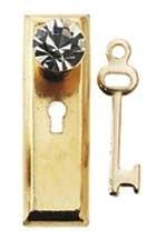 HW1142 Kristallen knop met deurplaat