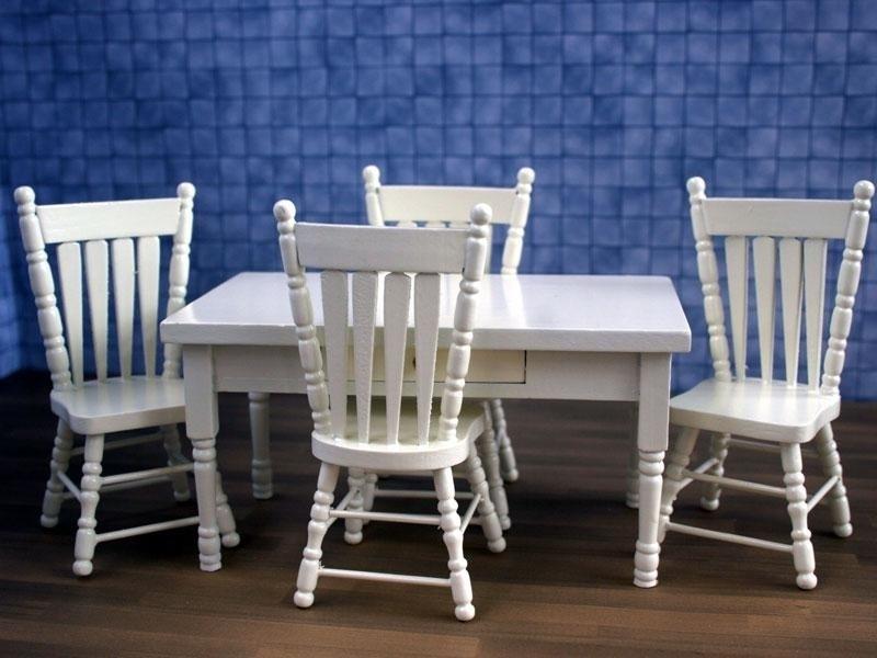 Eettafel Stoelen Crme.Wh Zs48 Eettafel Met 4 Stoelen Creme Eetkamer Mini