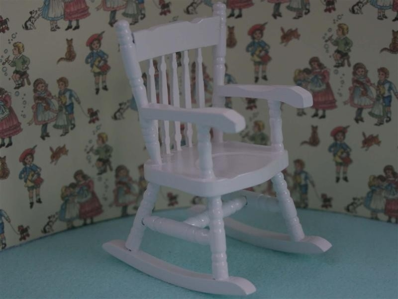 Kinder Schommelstoel Wit.Wh N39 Schommelstoel Wit Kinder En Babykamer Mini
