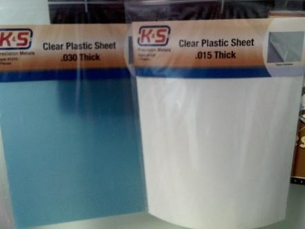 K&S 1307 Clear Plastic Sheet .010 thick