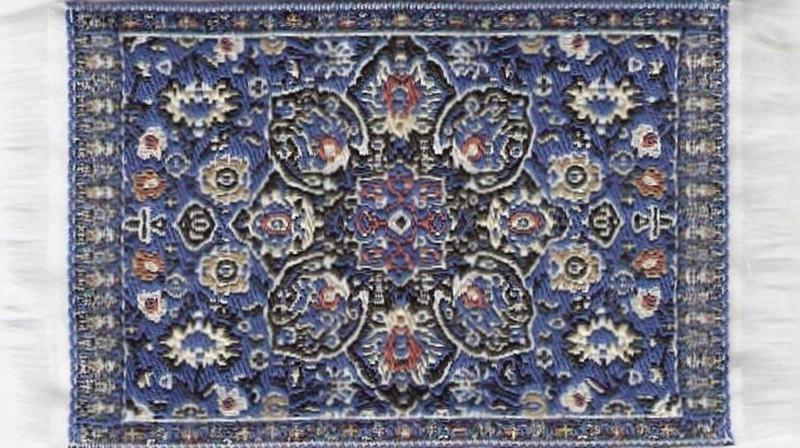 SAD-D697E Turks tapijt blauw 5 x 7cm