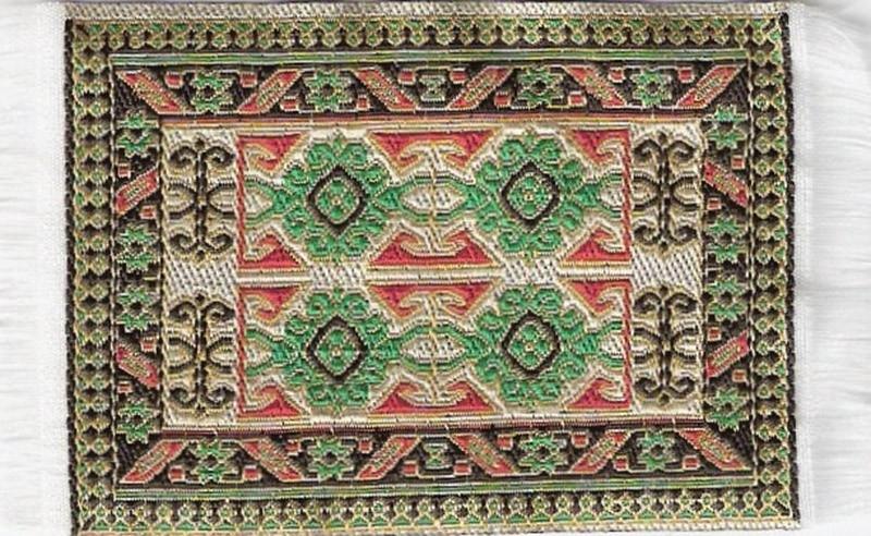 SAD-D697B Turks tapijt groen 5 x 7cm