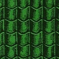 SAD-DIY019 Dakpannen Groen Papier