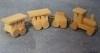 SAD-D1959 4-delige houten speelgoedtrein