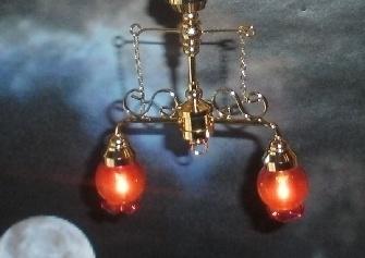 WH-EL304 2-armige plafondlamp gekleurd glas