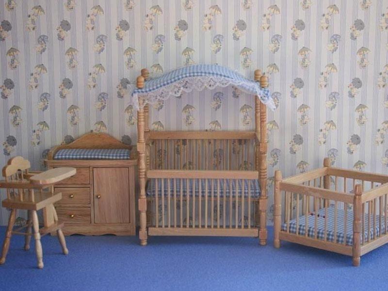 WH-BS39 Babykamerset 4-delig Blauw