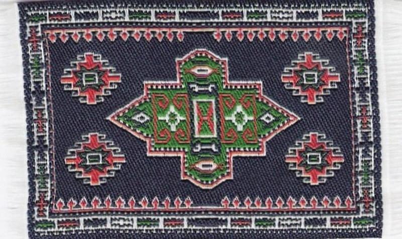 SAD-D697C Turks tapijt donker blauw 5 x 7cm