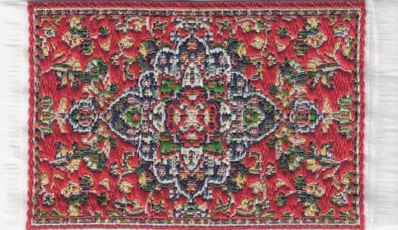 SAD-D697F Turks tapijt rood 5 x 7cm