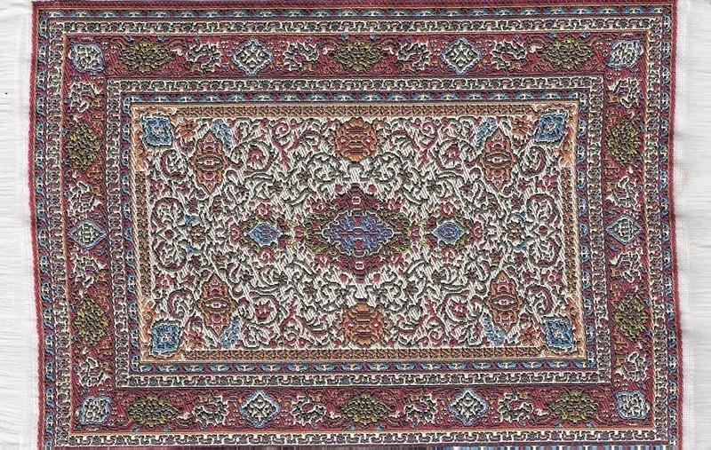 SAD-D698A Turks tapijt maroon 10 x 14cm