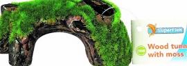 Superfish Keramisch Drijfhout tunnel met mos, S