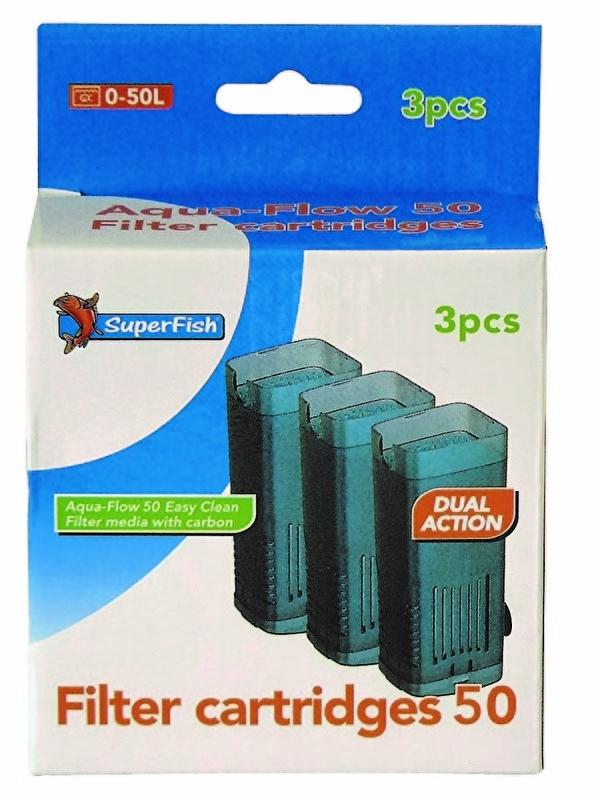 Aqua flow 50 easy click cassette, 3 stuks