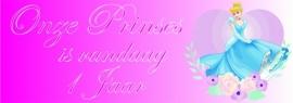 Verjaardag Spandoek meisje roze tekst