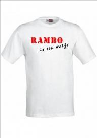 Baby shirtje RAMBO is een watje