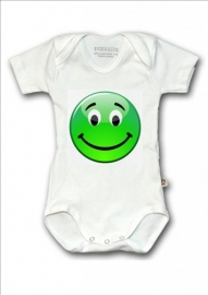 Baby shirtje Smiley groen