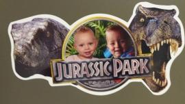 Kinderkamer Jurassic Park deursticker
