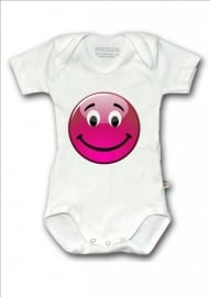 Baby shirtje Smiley rood