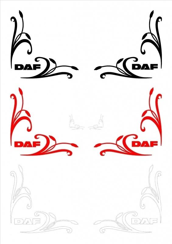 Zijruit sticker DAF