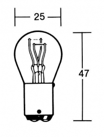 Lamp, achterlicht met remlicht.