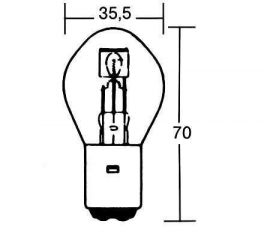 Lamp, groot/dimlicht voor  buggy's/quad en scooters