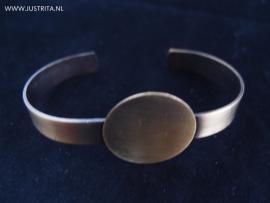 Cuff met plakvlak voor cabochon brons