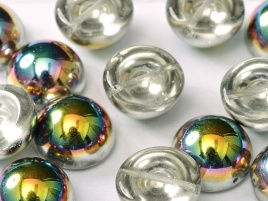 Dome Beads 14 x 8 Crystal Vitrail (per 5)