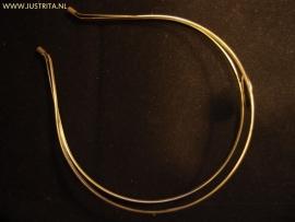 Diadeem met plakvlak 20mm antiek brons