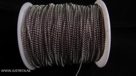"Zilverkleurige ""Ball Chain""   1.5mm"