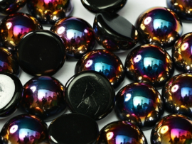 Dome Beads 12 x 7 Jet Sliperit (per 5)