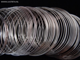Memory wire 5.5 cm zilverkleur