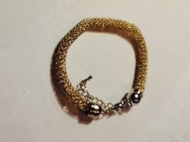 BJA005 armband met geel/gouden kraaltjes