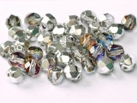 FP Facet 6mm Crystal Vulcano (per 50 stuks)