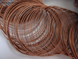 Memory wire 5.5 cm roodkoper.