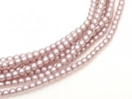 streng Glasparels rond 4mm matted Antique Pink Satin