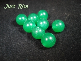 Groene Jade rond 10 mm